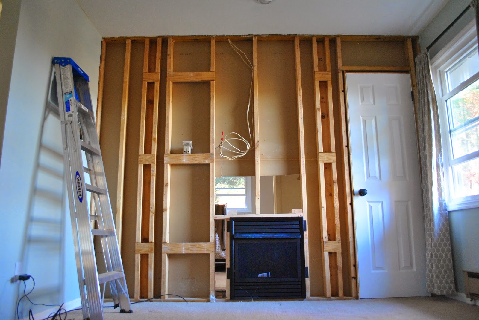 Built In Drywall Shelves With Ten Thousand Beside