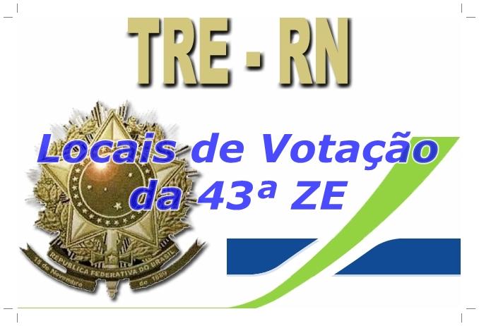 Confira os locais de votação da 43ª Zona Eleitoral