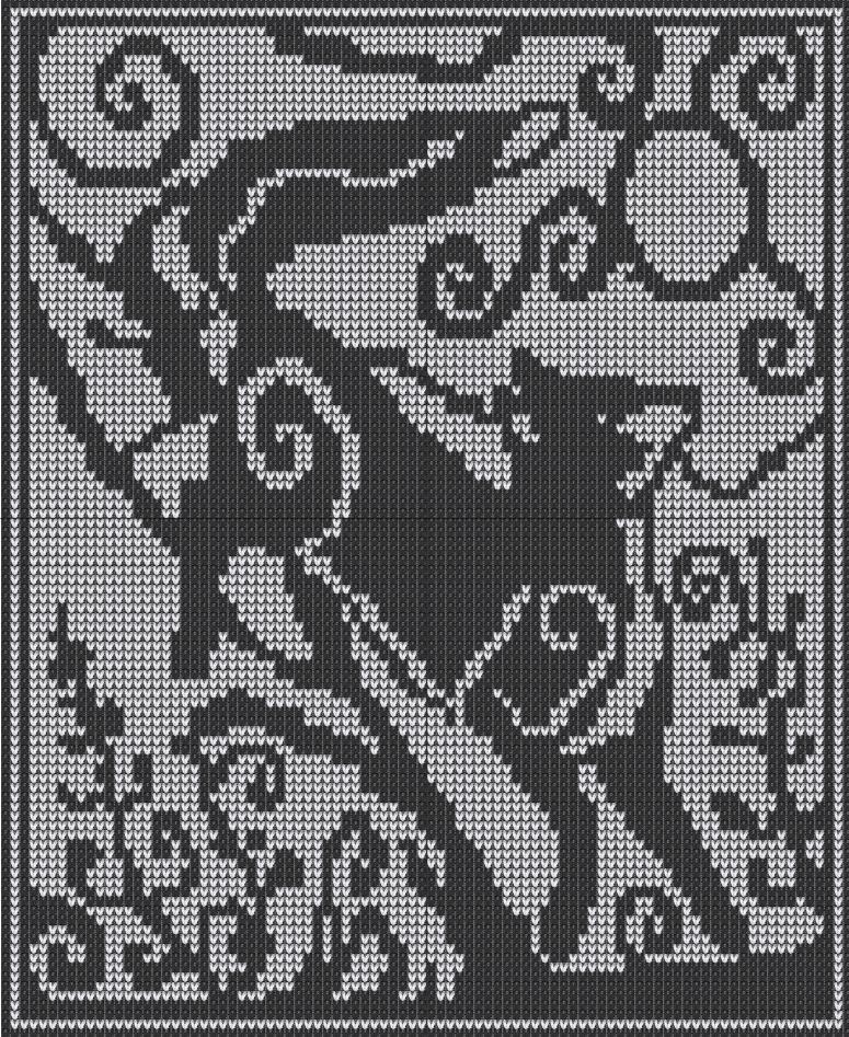 Knitting Chart No Stitch : Witchwolfweb creations charts spirit fox red