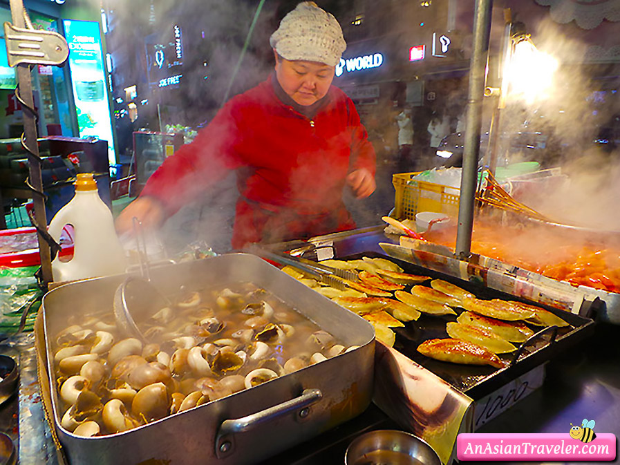 myeongdong street food stall