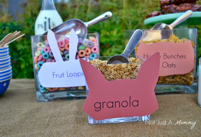 Simple Woodland-Themed Brunch for Fall cereal bowls