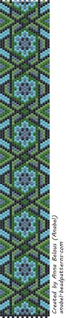 3 схемы мозаичных браслетов / 3 free peyote patterns