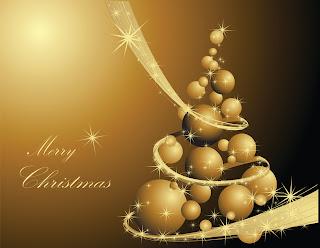 金色のクリスマスボールの背景 golden christmas background イラスト素材1