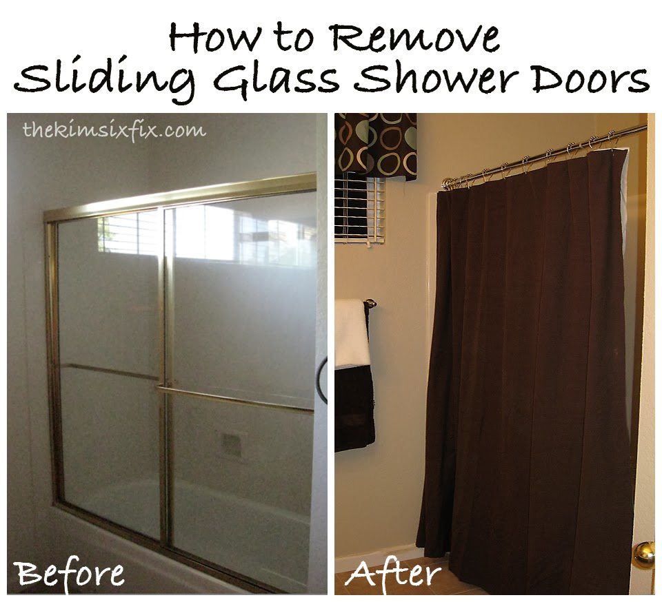 tutorial how to remove sliding glass shower doors