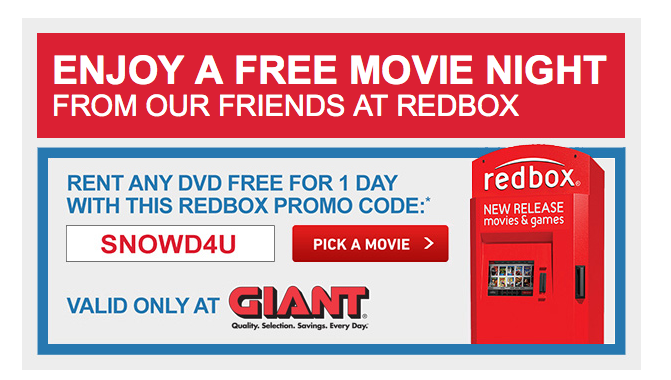 Redbox coupon codes