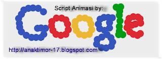 Buat Script logo animasi google bergoyang keren 2013