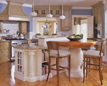 multi dimensional kitchen island this t shaped island offers practical