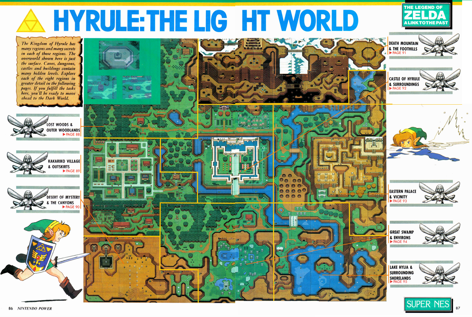 8-Bit City: The Legend of Zelda: <b>Link</b> to the <b>Past Nintendo</b> Power Scans