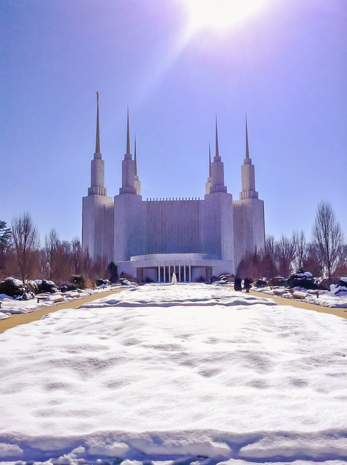 Snow LDS Washington D.C. Temple Kensington, MD