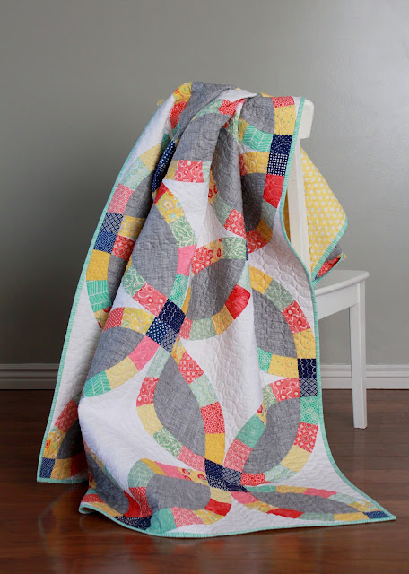 Kate's Big Day quilt made by Andy at A Bright Corner blog