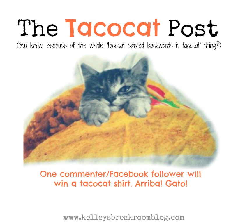 The Taco Cat Post (with a chance to win the awesome shirt)
