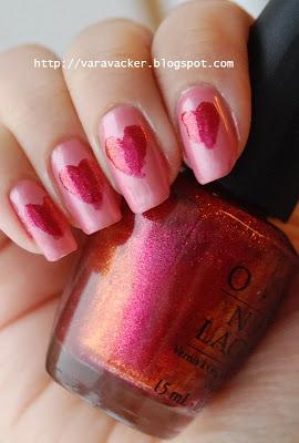 naglar, nails, nagellack, nail polish, alla hjärtans dags manikyr, valentines manicure