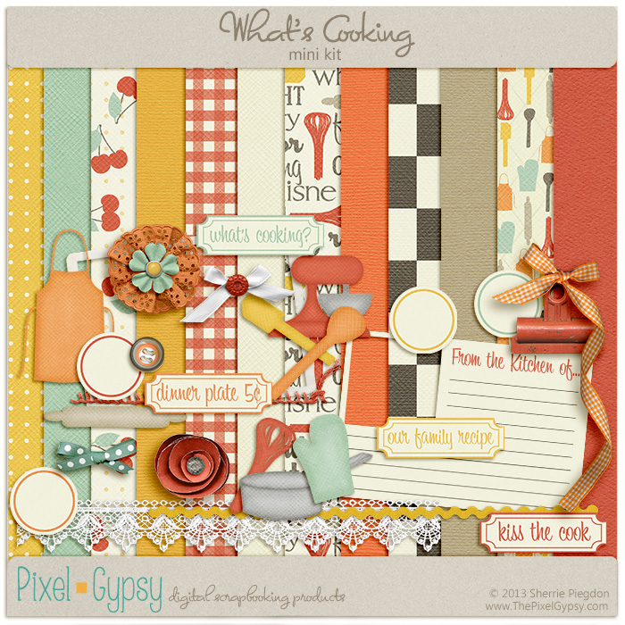 What's Cooking Digital Scrapbooking Mini Kit
