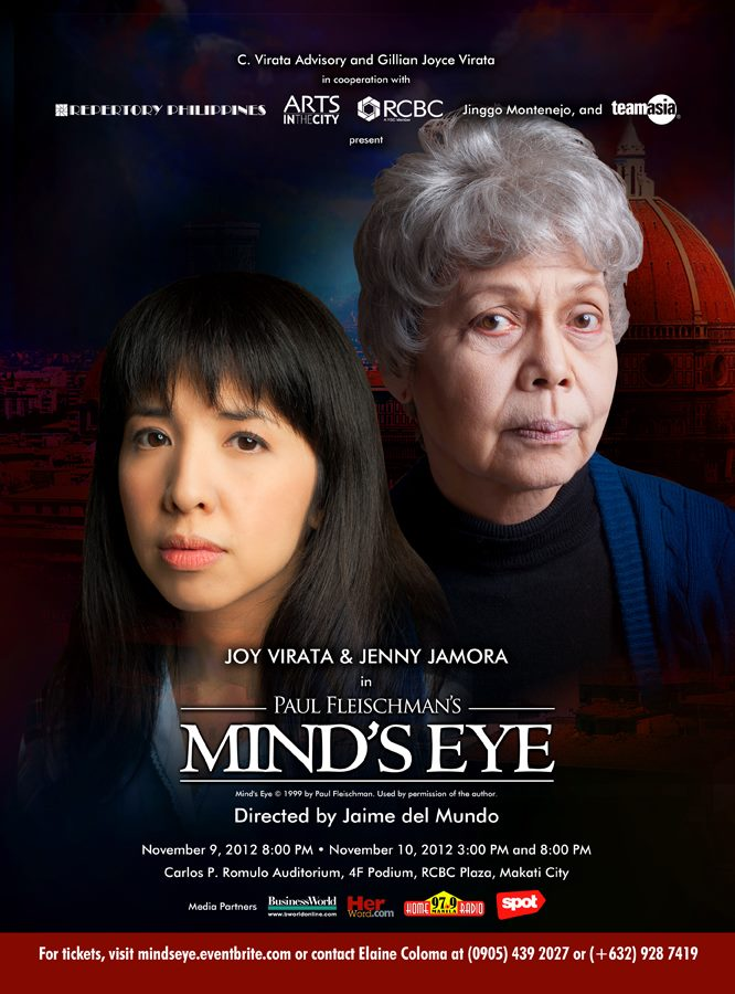 Paul Fleischman's MIND'S EYE Runs This Weekend, 11/9 & 10