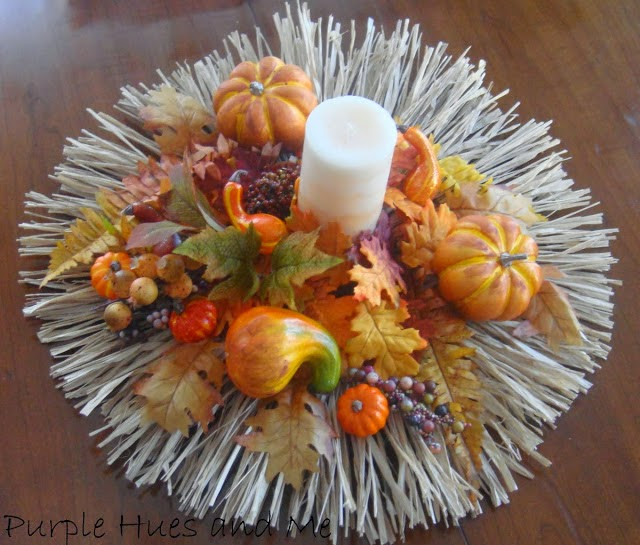 Raffia Fall Centerpiece