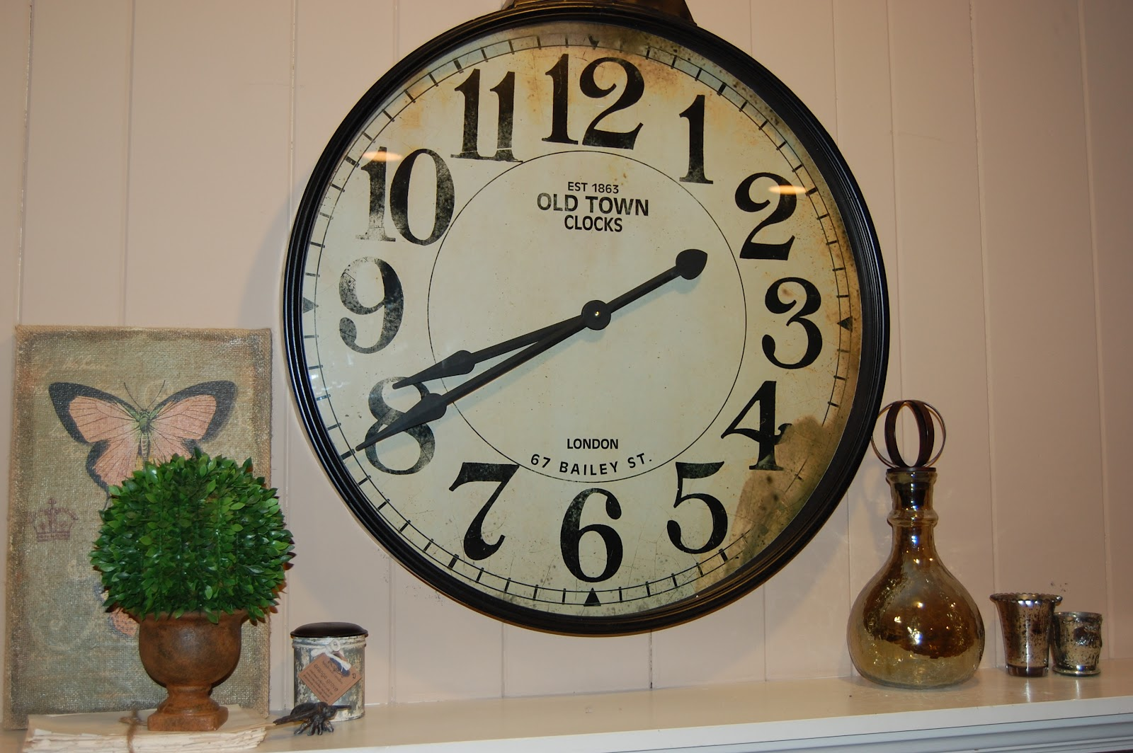 Decorating With Clocks Wine Taste Girl Over The Mantel Decor