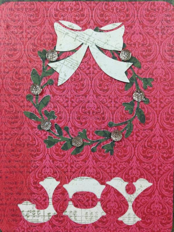 Close To My Heart Artfully Sent Cricut cartridge Joy card closeup