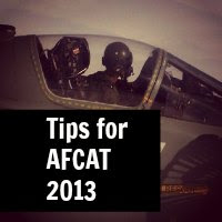 Tips for AFCAT 2013