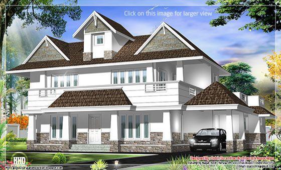 Western model house