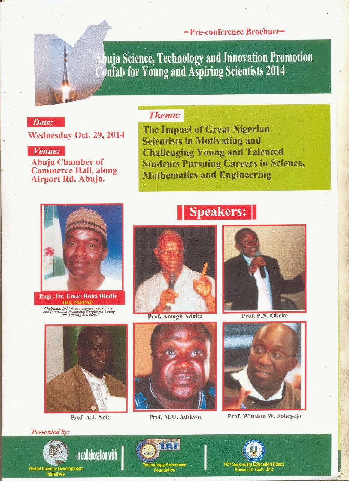 Abuja Science brochure