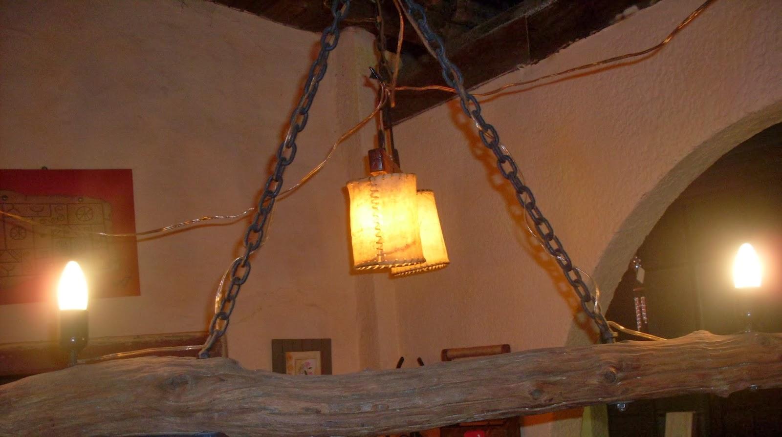 El desv n taller de hierro y madera ta 39 bueno - Lamparas para cocinas rusticas ...
