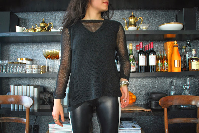 leather lover-sandro paris leather leggings mother's closet zara alexander wang loveyourself ootd