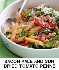 Bacon, Kale, and Sun-dried Tomato Penne