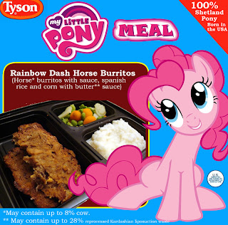 funny horse meat horsemeat my little pony frozen dinner
