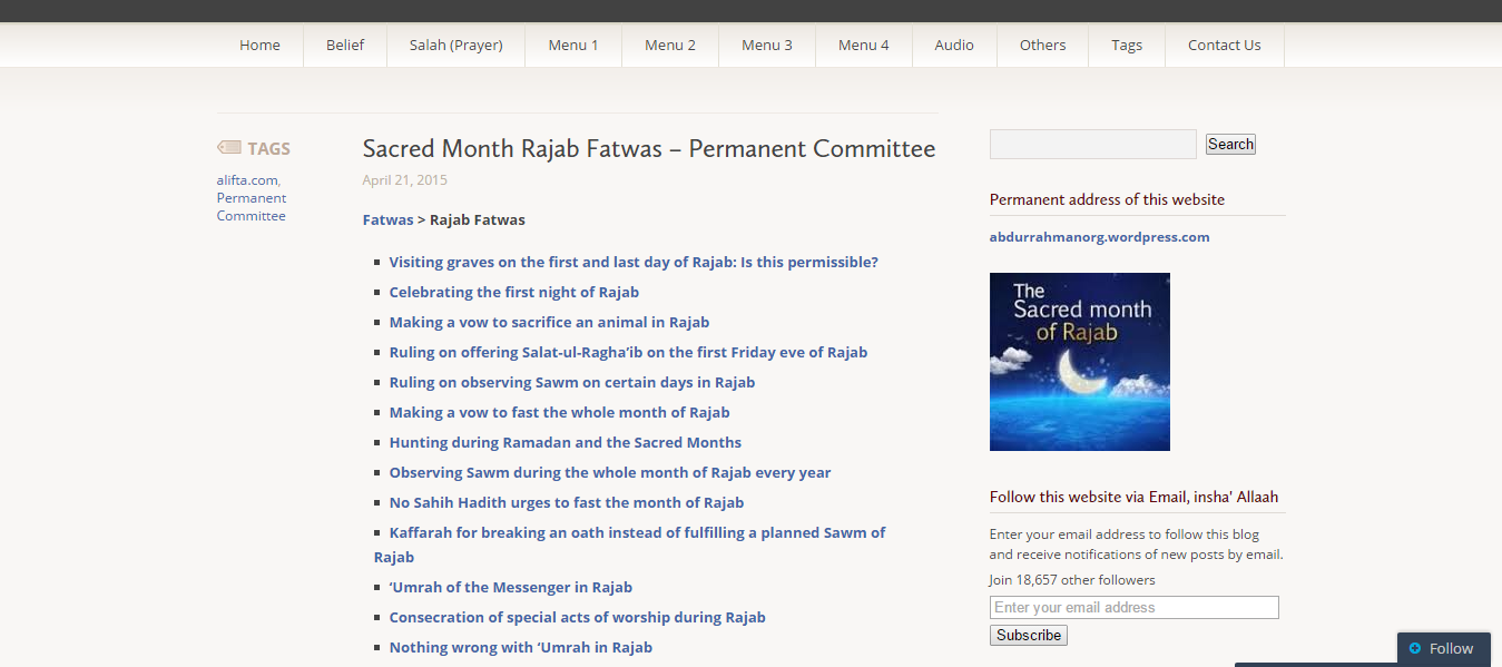 The Month of Rajab - Fatawas