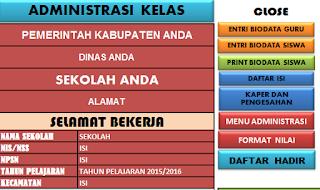 Download Aplikasi Administrasi Kelas KTSP 2015/2016