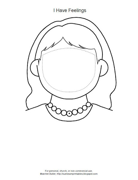 Feeling Faces Coloring Pages
