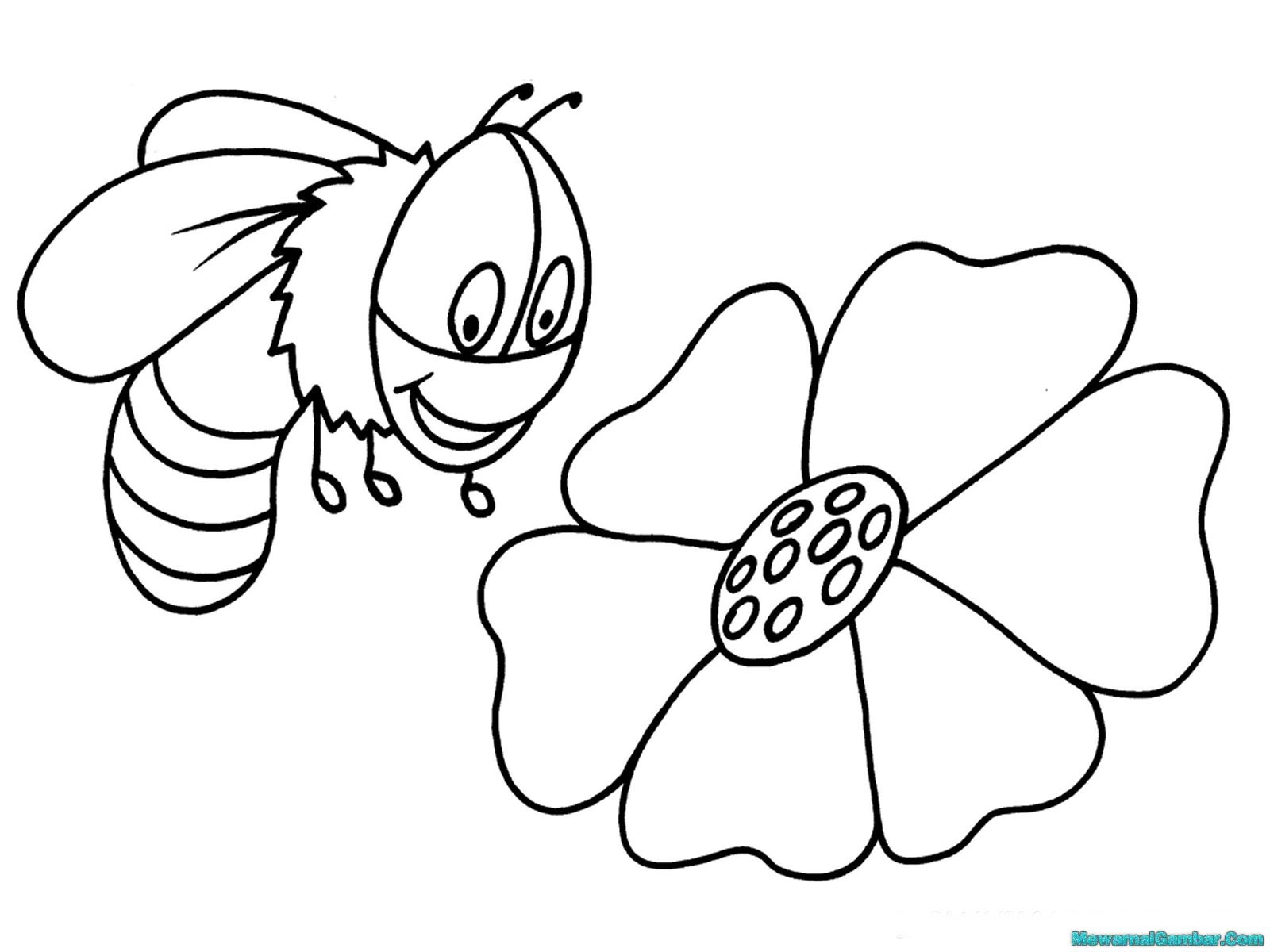 Cute Bumble Bee Coloring Pages