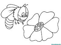 Buku Gratis Mewarnai Gambar Lebah