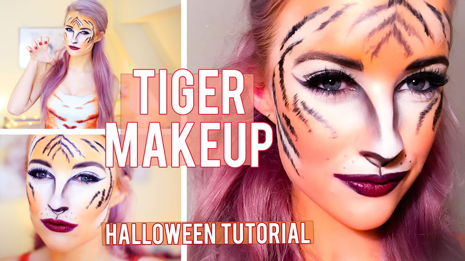 Tiger Stripes Halloween Makeup Tutorial