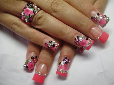 17 Pink nails design is always great idea for the weekend