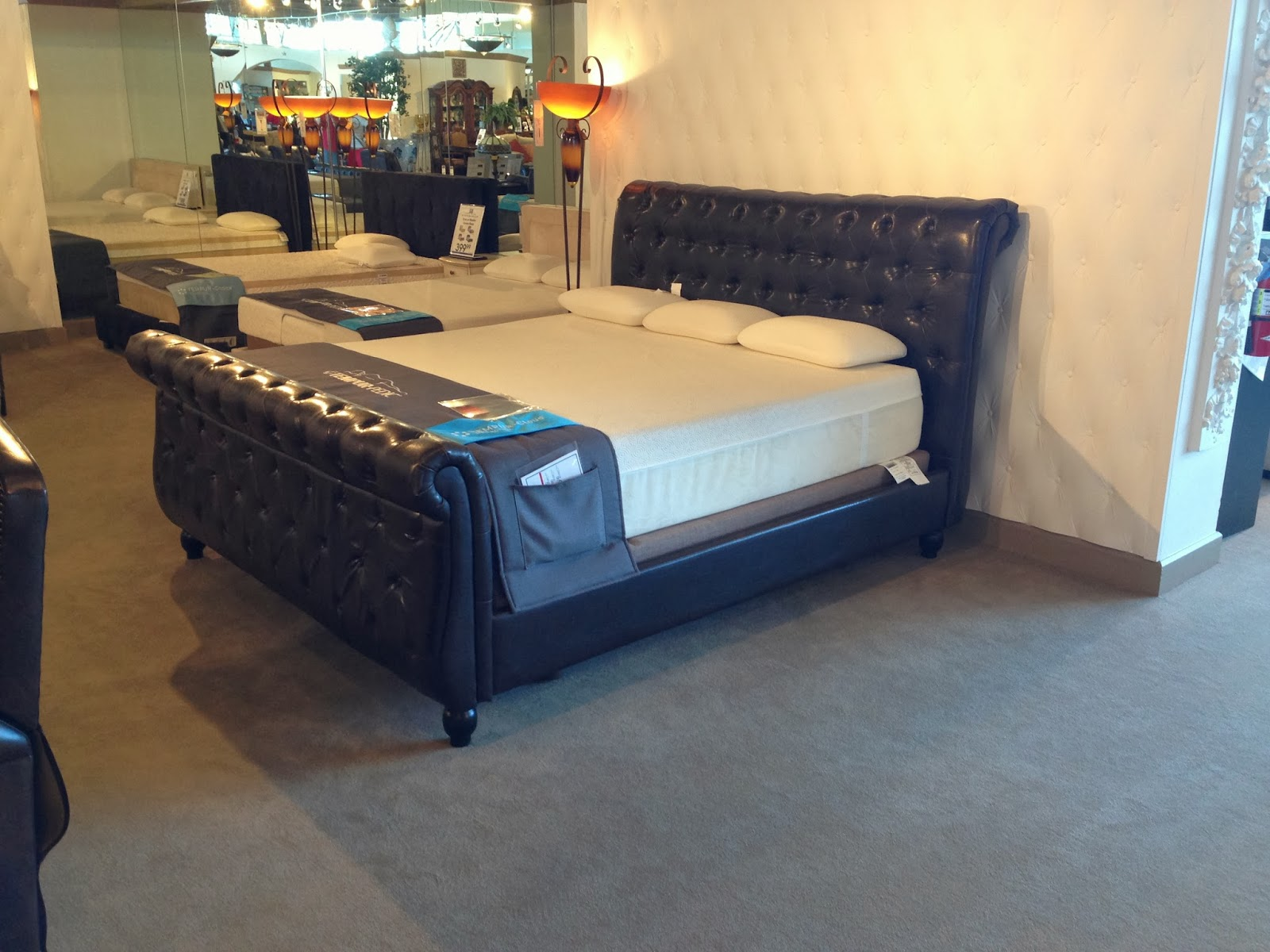 Rosabella Brown Sleigh Bed