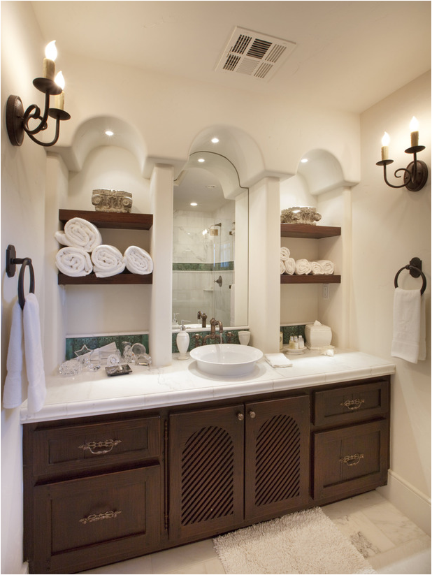 Old world bathroom design ideas room design ideas for Bathroom shelves design