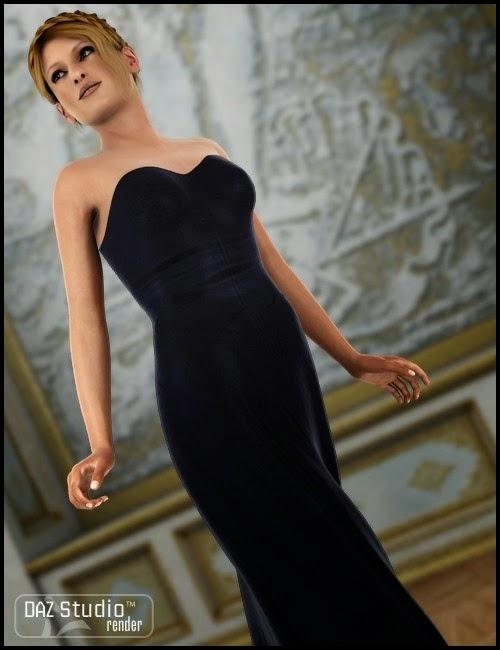 DAZ STUDIO - Morphing Fantasy Dress for Genesis