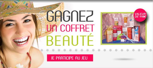 1 coffret cadeau BeautéSantéHygièneFrance composé de produits de beauté de parapharmacie d'une valeur de 110€
