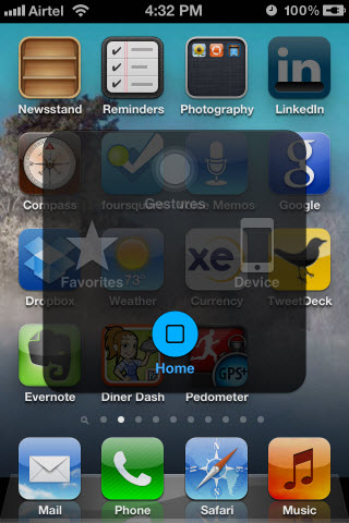 The Assistive Touch Soft On Screen Home Button For Iphone 5 4s 4