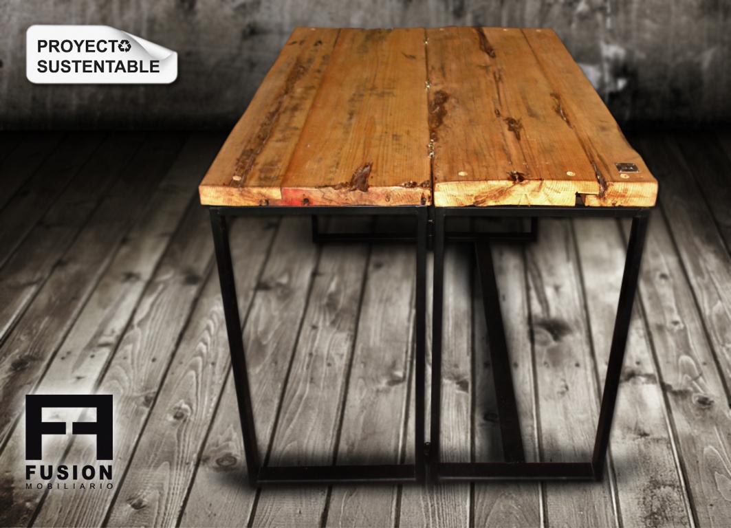 Mesa plegable fusion mobiliario - Tablas de madera a medida ...