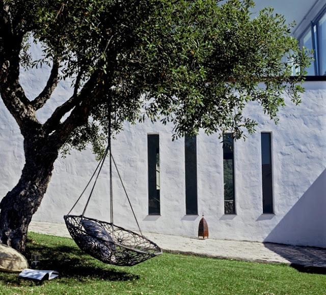 hamaca jardin colgante