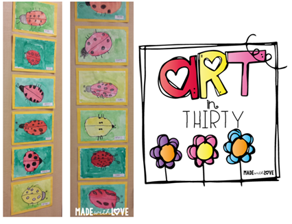 http://madewithloveteaching.blogspot.com/2015/04/art-in-30-watercolor-ladybugs.html