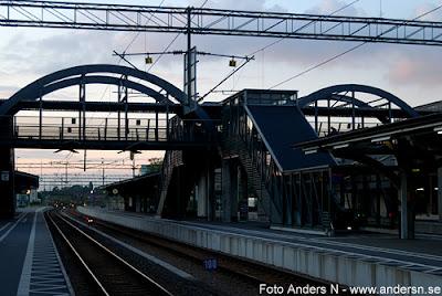 lunds station c central centralstation järnvägsstation, kväll, natt, foto anders n