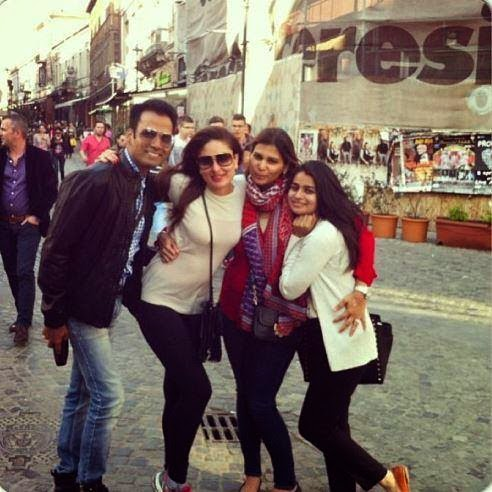 Kareena Kapoor was seen in Bucharest shooting for a cosmetic brand she endorses