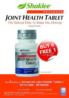 Kebaikan dan Khasiat Vitamin Penjagaan Sendi Advanced Joint Health Tablet Shaklee