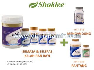 vitamin shaklee ketika hamil dan berpantang bersalin