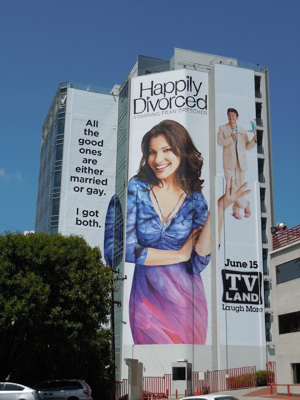 Giant Happily Divorced TV billboard