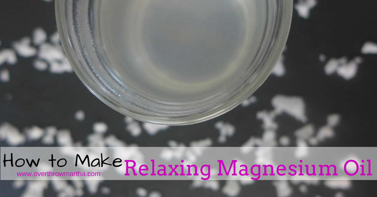 Learn how to make #DIY magnesium oil to help promote better #sleep and #health
