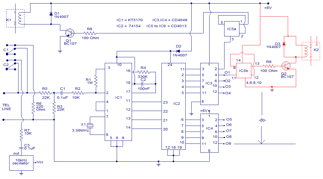 Telephone Dtmf Remote Control on fire alarm circuits wiring diagram